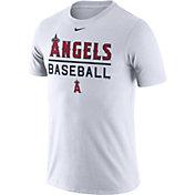Nike Men's Los Angeles Angels Practice White T-Shirt