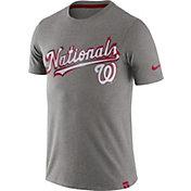 Nike Men's Washington Nationals Marled Grey T-Shirt