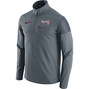 Nike Men's Washington Nationals Dri-FIT Grey Performance Half-Zip Fleece