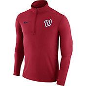 Nike Men's Washington Nationals Dri-FIT Red Element Half-Zip Jacket
