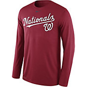 Nike Men's Washington Nationals Dri-FIT Red Legend Long Sleeve Shirt