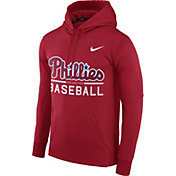 Nike Men's Philadelphia Phillies Dri-FIT Red Therma Pullover Hoodie