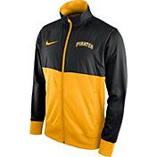 Nike Men's Pittsburgh Pirates Black/Gold Full-Zip Track Jacket
