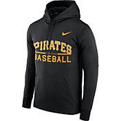 Nike Men's Pittsburgh Pirates Dri-FIT Black Therma Pullover Hoodie