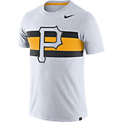 Nike Men's Pittsburgh Pirates Dri-Blend White Local Stripes T-Shirt