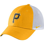 Nike Men's Pittsburgh Pirates Dri-FIT Gold/White Heritage 86 Adjustable Hat