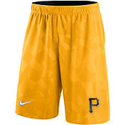Nike Men's Pittsburgh Pirates Dri-FIT Gold Knit Shorts