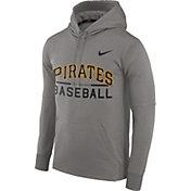 Nike Men's Pittsburgh Pirates Dri-FIT Grey Therma Pullover Hoodie
