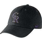 Nike Men's Colorado Rockies Dri-FIT Black Heritage 86 Stadium Adjustable Hat