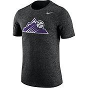 Nike Men's Colorado Rockies Marled Black T-Shirt