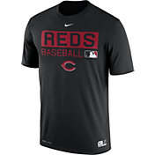 Nike Men's Cincinnati Reds Dri-FIT Authentic Collection Black Legend T-Shirt