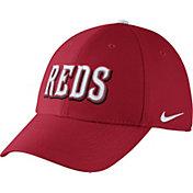 Nike Men's Cincinnati Reds Dri-FIT Red Legacy 91 Swoosh Flex Hat