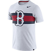 Nike Men's Boston Red Sox Dri-Blend White Local Stripes T-Shirt