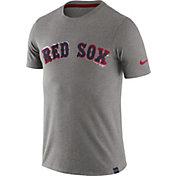 Nike Men's Boston Red Sox Marled Grey T-Shirt