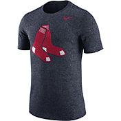 Nike Men's Boston Red Sox Marled Navy T-Shirt