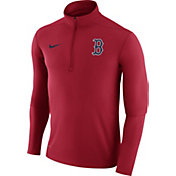 Nike Men's Boston Red Sox Dri-FIT Red Element Half-Zip Jacket