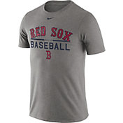 Nike Men's Boston Red Sox Practice Grey T-Shirt