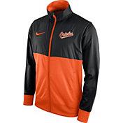 Nike Men's Baltimore Orioles Black/Orange Full-Zip Track Jacket