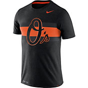 Nike Men's Baltimore Orioles Dri-Blend Grey Local Stripes T-Shirt