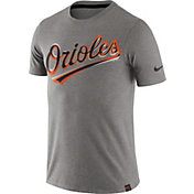 Nike Men's Baltimore Orioles Marled Grey T-Shirt