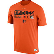 Nike Men's Baltimore Orioles Dri-FIT Authentic Collection Orange Legend T-Shirt