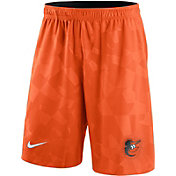 Nike Men's Baltimore Orioles Dri-FIT Orange Knit Shorts