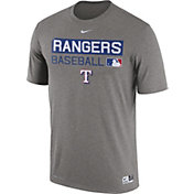 Nike Men's Texas Rangers Dri-FIT Authentic Collection Grey Legend T-Shirt