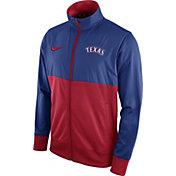 Nike Men's Texas Rangers Royal/Red Full-Zip Track Jacket