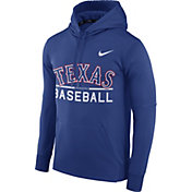Nike Men's Texas Rangers Dri-FIT Royal Therma Pullover Hoodie