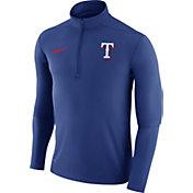 Nike Men's Texas Rangers Dri-FIT Royal Element Half-Zip Jacket