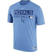 Nike Men's Kansas City Royals Dri-FIT Authentic Collection LIght Blue Legend T-Shirt