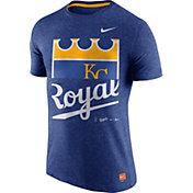 Nike Men's Kansas City Royals Cooperstown Royal Tri-Blend T-Shirt