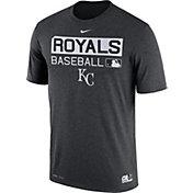 Nike Men's Kansas City Royals Dri-FIT Authentic Collection Grey Legend T-Shirt