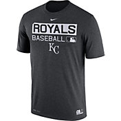 Nike Men's Kansas City Royals Dri-FIT Authentic Collection Grey Legend T-Shirt