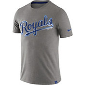 Nike Men's Kansas City Royals Marled Grey T-Shirt