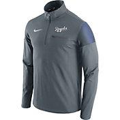 Nike Men's Kansas City Royals Dri-FIT Grey Performance Half-Zip Fleece