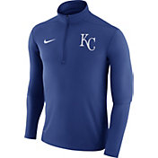 Nike Men's Kansas City Royals Dri-FIT Royal Element Half-Zip Jacket