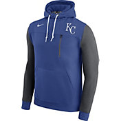 Nike Men's Kansas City Royals Dri-FIT Royal AV Pullover Hoodie