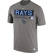 Nike Men's Tampa Bay Rays Dri-FIT Authentic Collection Grey Legend T-Shirt