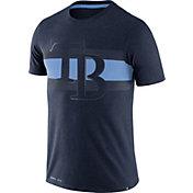 Nike Men's Tampa Bay Rays Dri-Blend Navy Local Stripes T-Shirt