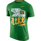 Nike Men's Oakland Athletics Cooperstown Green Tri-Blend T-Shirt