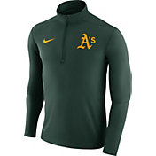 Nike Men's Oakland Athletics Dri-FIT Green Element Half-Zip Jacket