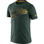 Nike Men's Oakland Athletics Marled Green T-Shirt