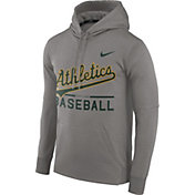 Nike Men's Oakland Athletics Dri-FIT Grey Therma Pullover Hoodie