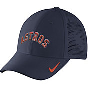 Nike Men's Houston Astros Dri-FIT Navy Vapor Classic Swoosh Flex Fitted Hat