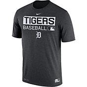 Nike Men's Detroit Tigers Dri-FIT Authentic Collection Grey Legend T-Shirt