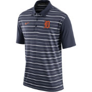 Nike Men's Detroit Tigers Dri-FIT Navy Striped Polo
