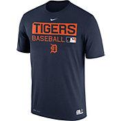 Nike Men's Detroit Tigers Dri-FIT Authentic Collection Navy Legend T-Shirt