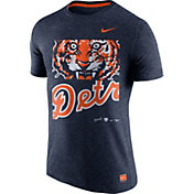 Nike Men's Detroit Tigers Cooperstown Navy Tri-Blend T-Shirt