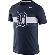Nike Men's Detroit Tigers Dri-Blend Navy Local Stripes T-Shirt